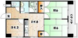 福岡県北九州市小倉北区日明3丁目の賃貸マンションの間取り