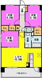 カリーナ東那珂[2階]の間取り