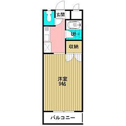 ルミネ松本[105号室]の間取り