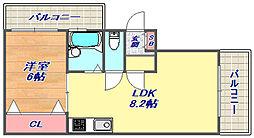 シエール灘2[3F号室]の間取り