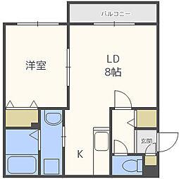 北海道札幌市中央区北四条東5丁目の賃貸マンションの間取り