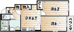 フェリオ E棟[1階]の間取り