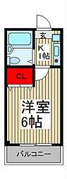 ラポール南浦和[3階]の間取り