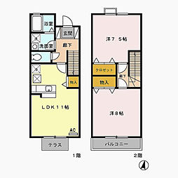 [タウンハウス] 東京都江戸川区本一色3丁目 の賃貸【/】の間取り