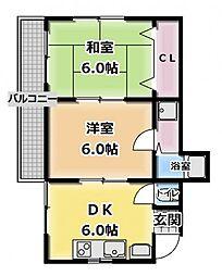ハイツタナカ[3階]の間取り