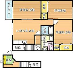 ヴィクトワール高須II[2階]の間取り