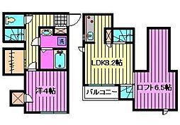 CB与野本町レコルト[1階]の間取り