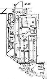 プレール・ドゥーク新宿御苑[802号室号室]の間取り