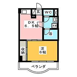カメリア・コート長町[2階]の間取り