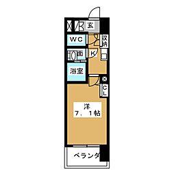 S-FORT山王[5階]の間取り