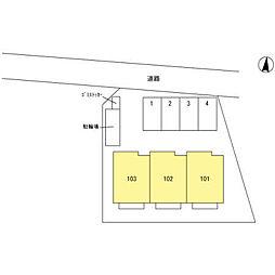(仮)今羽町D-room新築工事[101号室]の外観
