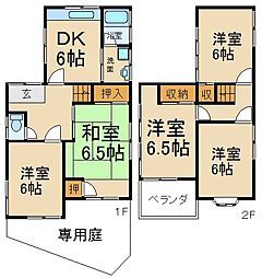 [一戸建] 大阪府枚方市茄子作2丁目 の賃貸【/】の間取り