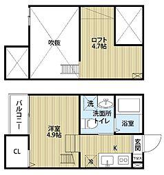 エスポワール堀田[1階]の間取り