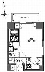 S-RESIDENCE東神田 6階1Kの間取り