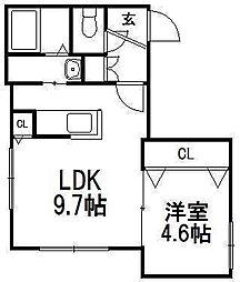 北海道札幌市西区西町南11の賃貸マンションの間取り