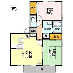 TMKホープ2 M棟[101号室]の間取り