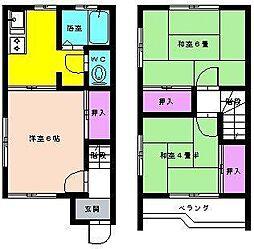 [テラスハウス] 埼玉県吉川市高久2丁目 の賃貸【/】の間取り