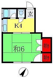 都荘[2階]の間取り