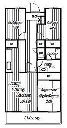 ソシアル検見川2[2階]の間取り