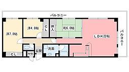 メゾングレース[4階]の間取り