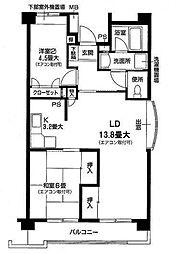 カサ・エレガンテ[1階]の間取り