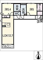 仮)シャーメゾン田原町[2階]の間取り