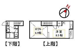 ポラリスシティ九研I[202号号室]の間取り