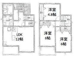 [一戸建] 岡山県岡山市中区高島新屋敷 の賃貸【/】の間取り