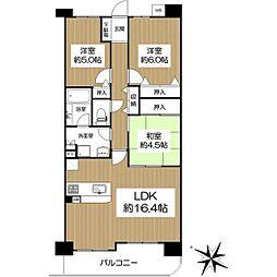 メロディーハイム桃山台 3階3LDKの間取り