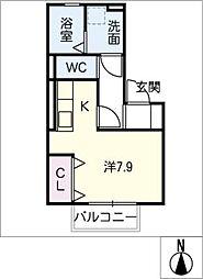 仮)D−room今池[1階]の間取り