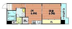 カナード西本町[6階]の間取り