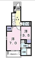 ベル ユニヴェール[1階]の間取り