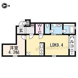 京阪本線 龍谷大前深草駅 徒歩7分の賃貸マンション 5階1LDKの間取り