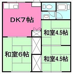 KIKUKAハイツ[201号室]の間取り