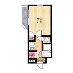 サンシャイン山崎2階Fの間取り画像