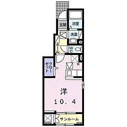 山越6丁目アパート(仮) 1階1Kの間取り