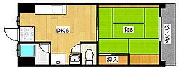 大阪府茨木市西駅前町の賃貸マンションの間取り