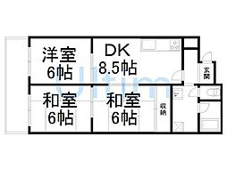 ロイヤルコーポ[1階]の間取り