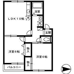 パーク・シャトル A[1階]の間取り