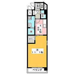 Casa Lumeカーサ ルーメ[5階]の間取り