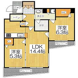 エステムプラザ京都四条烏丸[504号室]の間取り