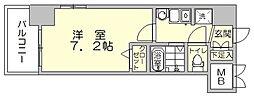 エステムコート博多駅前2セグティス[10階]の間取り