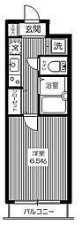 東京都杉並区清水1丁目の賃貸マンションの間取り