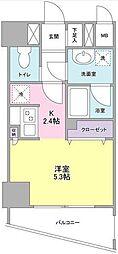 ディアレンス横濱沢渡[2階]の間取り
