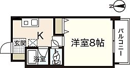 アヴァンセ中筋II[2階]の間取り