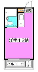 埼玉県所沢市西住吉の賃貸マンションの間取り