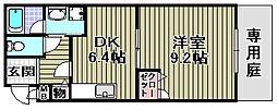 フジパレス式内町3[101号室]の間取り
