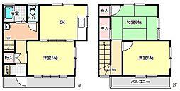 [テラスハウス] 東京都青梅市勝沼2丁目 の賃貸【東京都 / 青梅市】の間取り