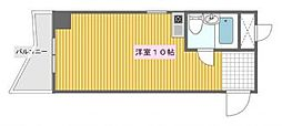 シャンクレール南堀江[4階]の間取り