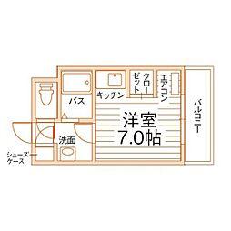 オリエンタル折尾駅[7階]の間取り